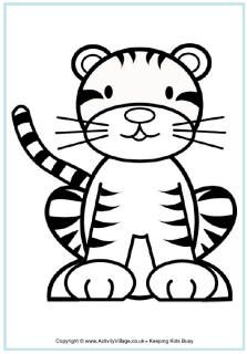 223x320 Tiger Colouring Pages Pictures Tigers, Tiger