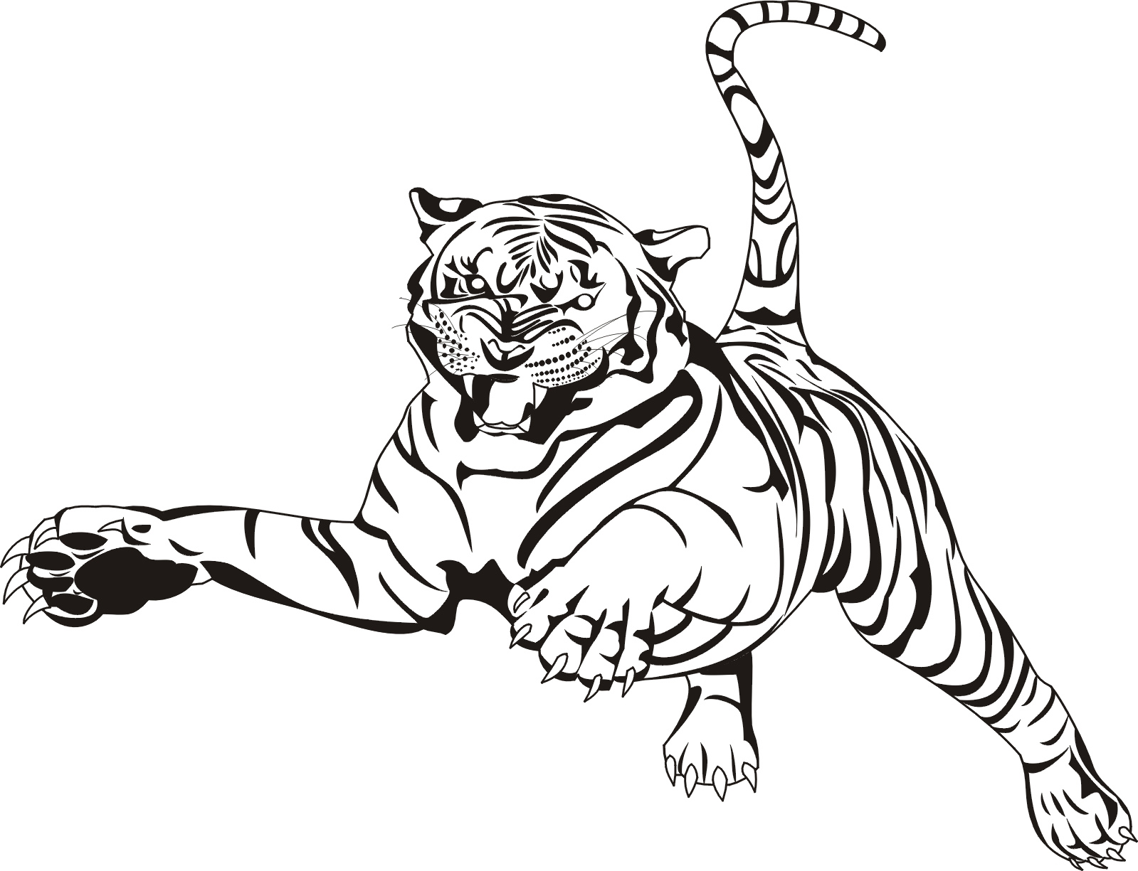 1599x1225 Tiger Coloring Pages Animal Coloring Pages