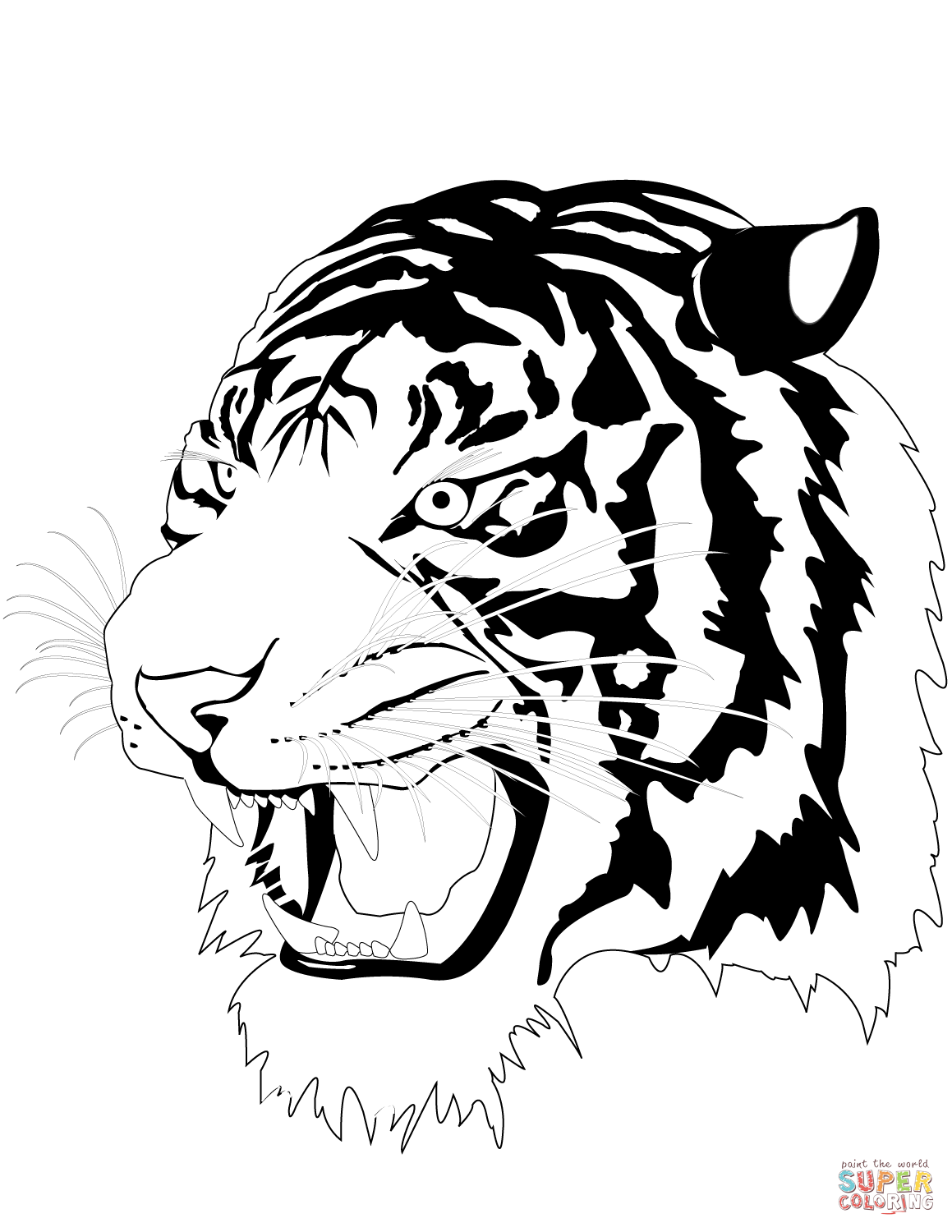 1159x1500 Tigers coloring pages Free Coloring Pages