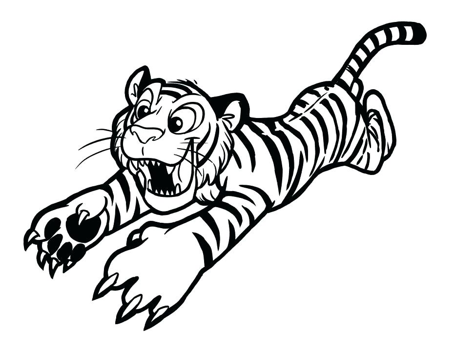 932x720 Spectacular Astounding Tiger Color Sheet Kids Coloring Pages