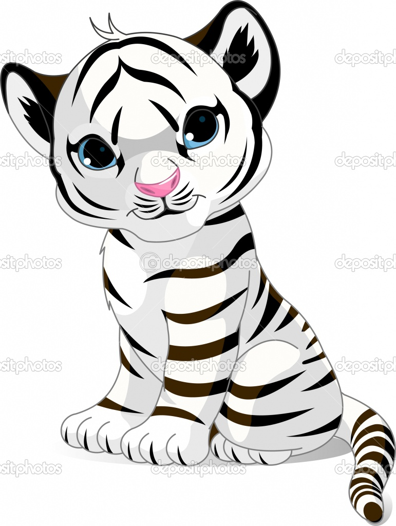 771x1024 Tiger+Cub+Coloring+Pages Cute white tiger cub Stock Vector