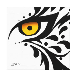 324x324 Tiger Drawing Wrapped Canvas Prints Zazzle