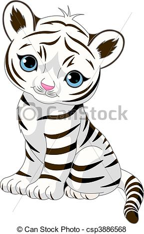 289x470 White Tiger clipart easy draw