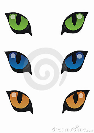317x450 Cat eyes clipart