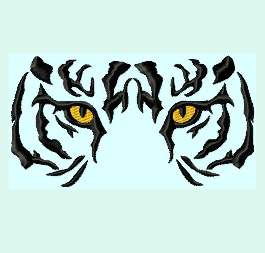 520x497 Free Tiger Eyes Clipart Image