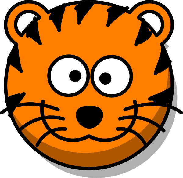 600x583 Tiger Eyes Black And White Clipart