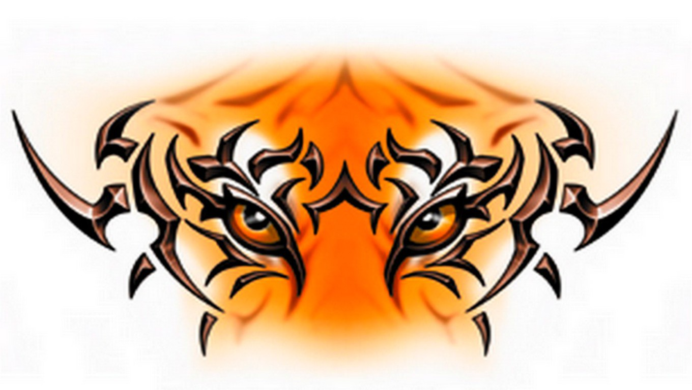 1360x768 Tiger Eyes Tattoo