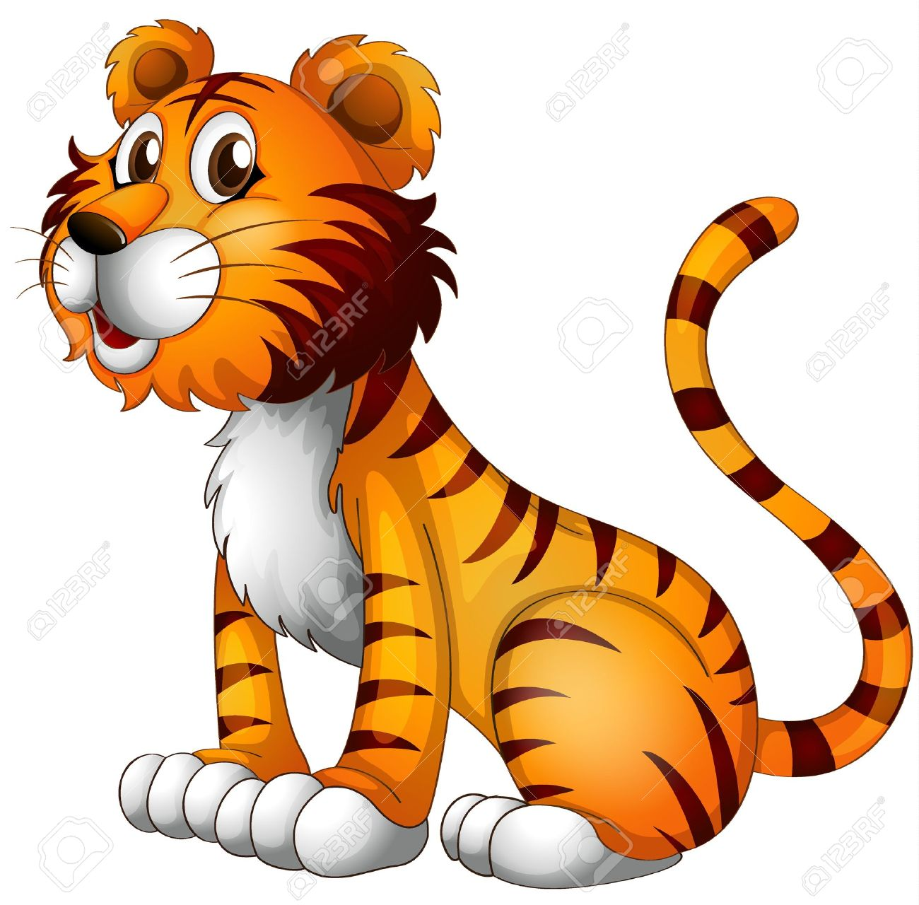 1300x1280 Tiger animal clipart, explore pictures
