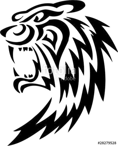 402x500 Tiger.tribal Predators. Stock Image And Royalty Free Vector Files