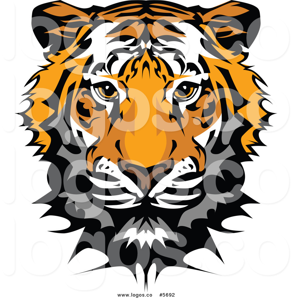 1024x1044 Royalty Free Vector Of A Logo Of A Cute Tiger Face By Chromaco