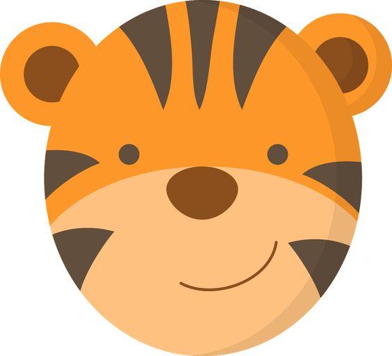 564x512 Tiger Face Clip Art Animales Granja Tiger Face