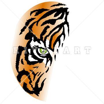 361x361 Tiger 1 Color Clipart
