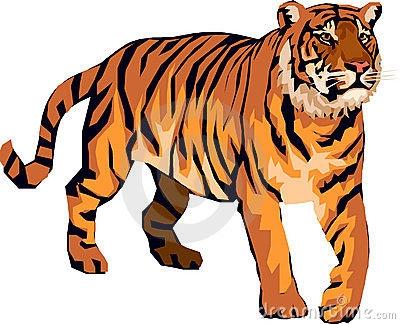 400x324 Tiger Clipart