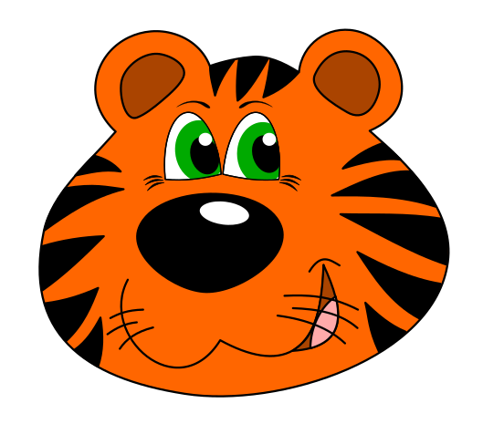529x465 Tiger Face Clip Art