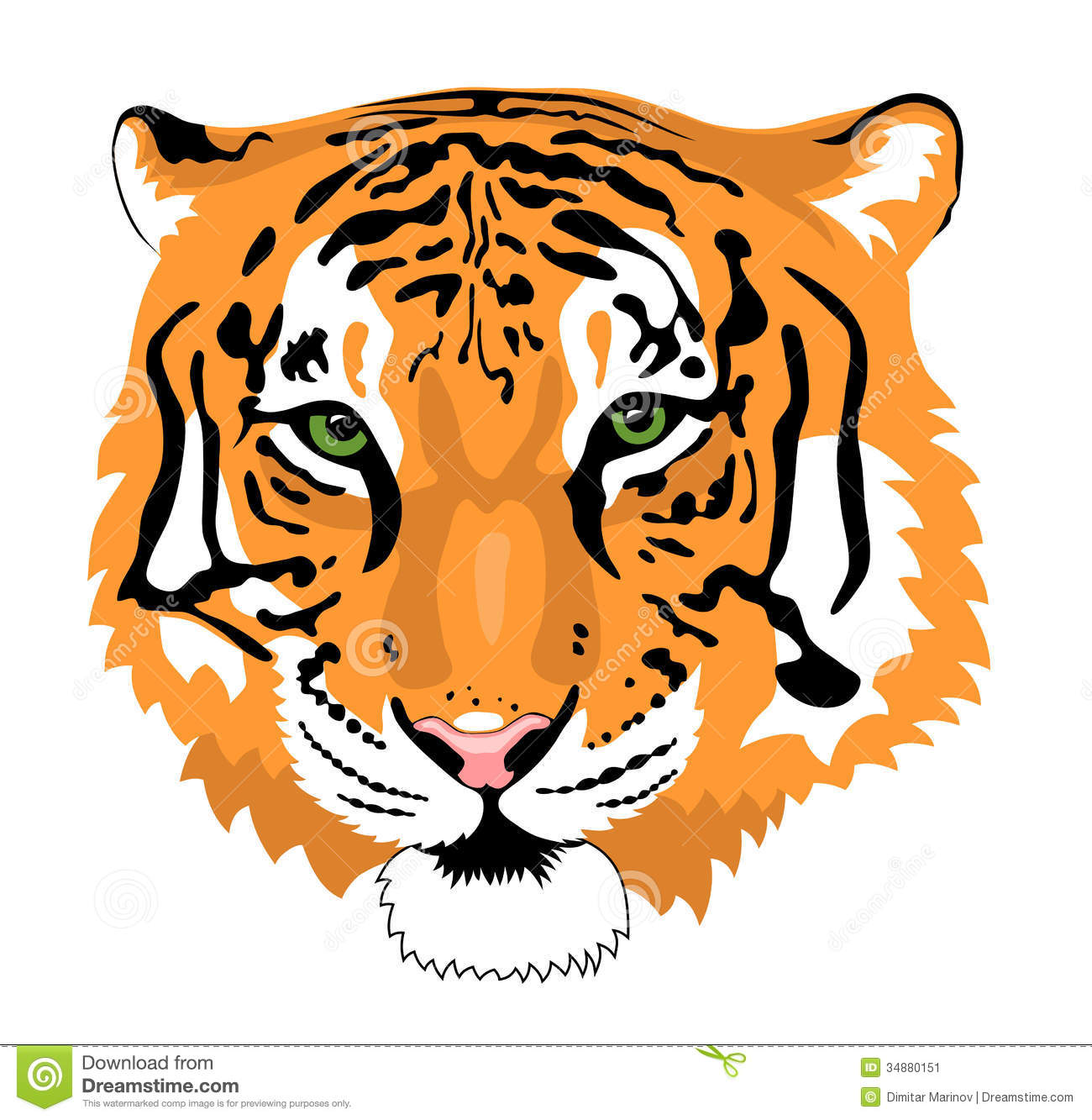 1300x1333 Tiger Face Clipart