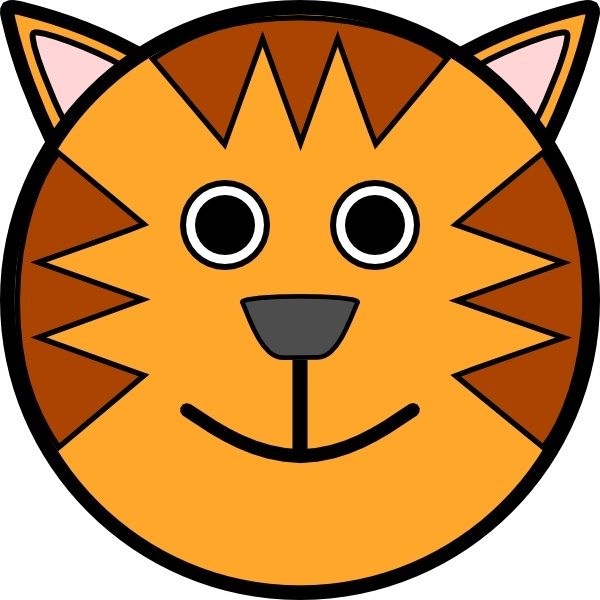 600x600 Tiger Face Clip Art Free Vector In Open Office Drawing Svg ( Svg