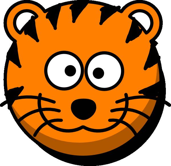600x583 Tiger Head No Tail Clip Art