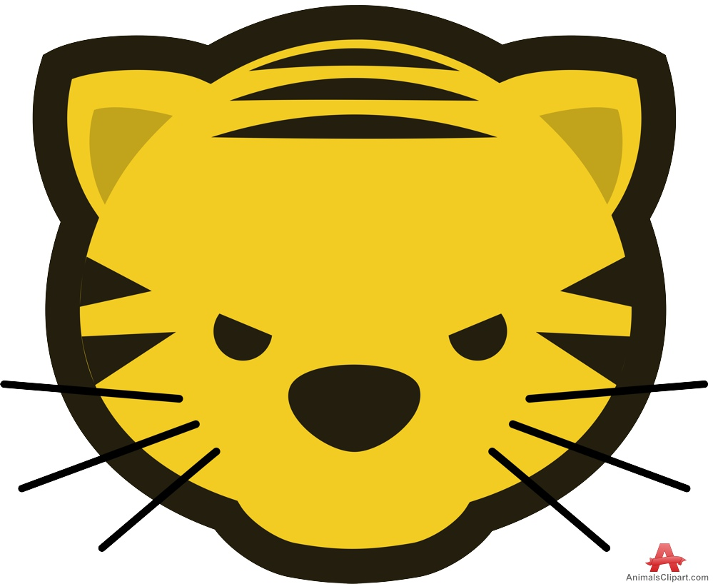 999x818 Tiger Clipart Yellow