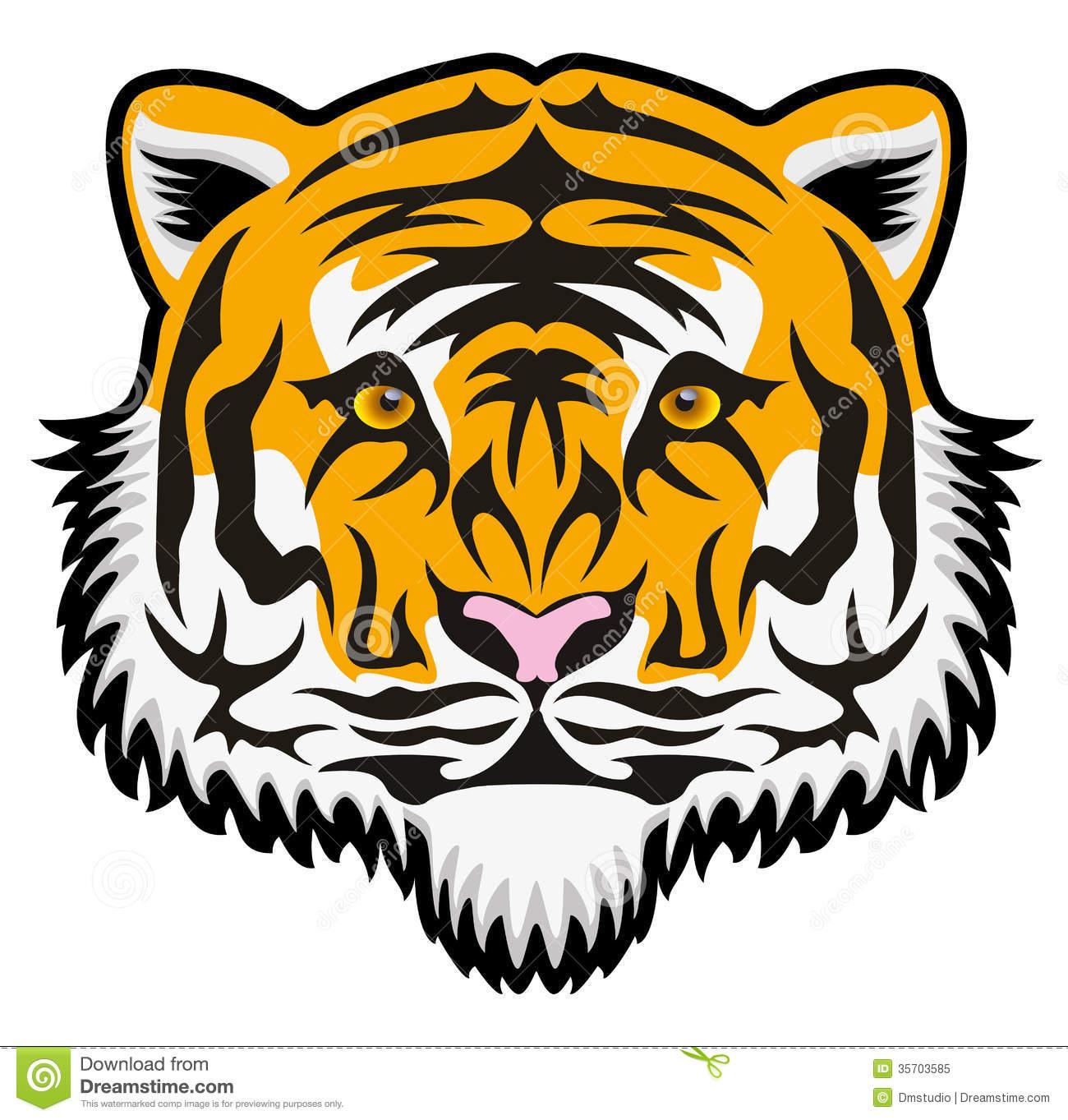 1300x1363 Bengal Clipart Tiger Face