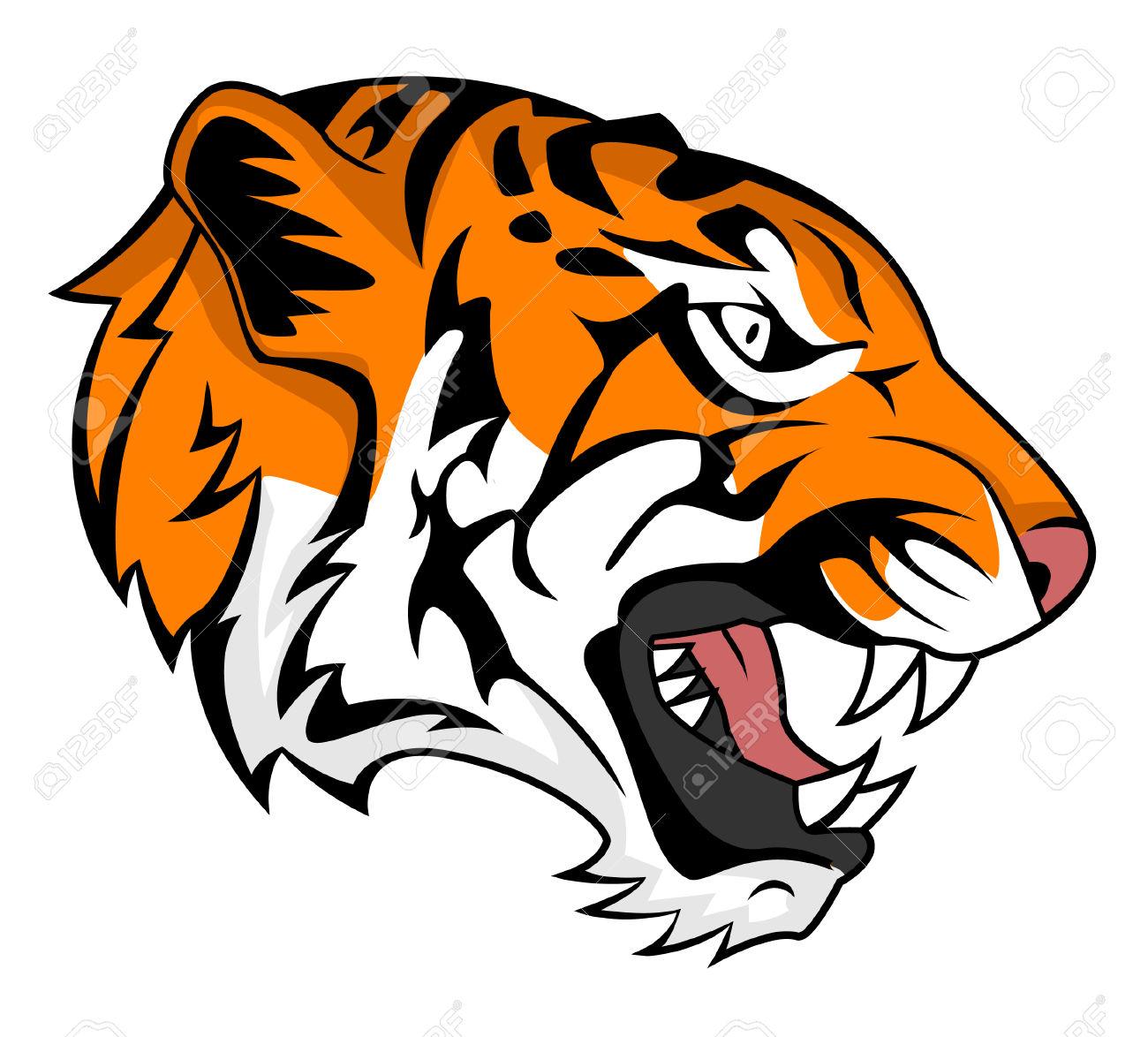 1300x1174 Profile clipart tiger