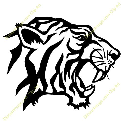 500x500 Tiger Head Clipart