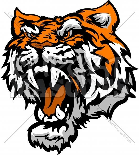 530x590 Bengal Clipart Tiger Head