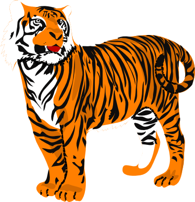 395x410 Friendly Tiger Cliparts