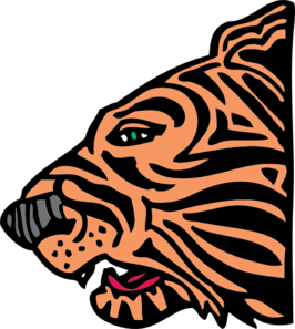 266x297 Tiger Head Side View Clip Art