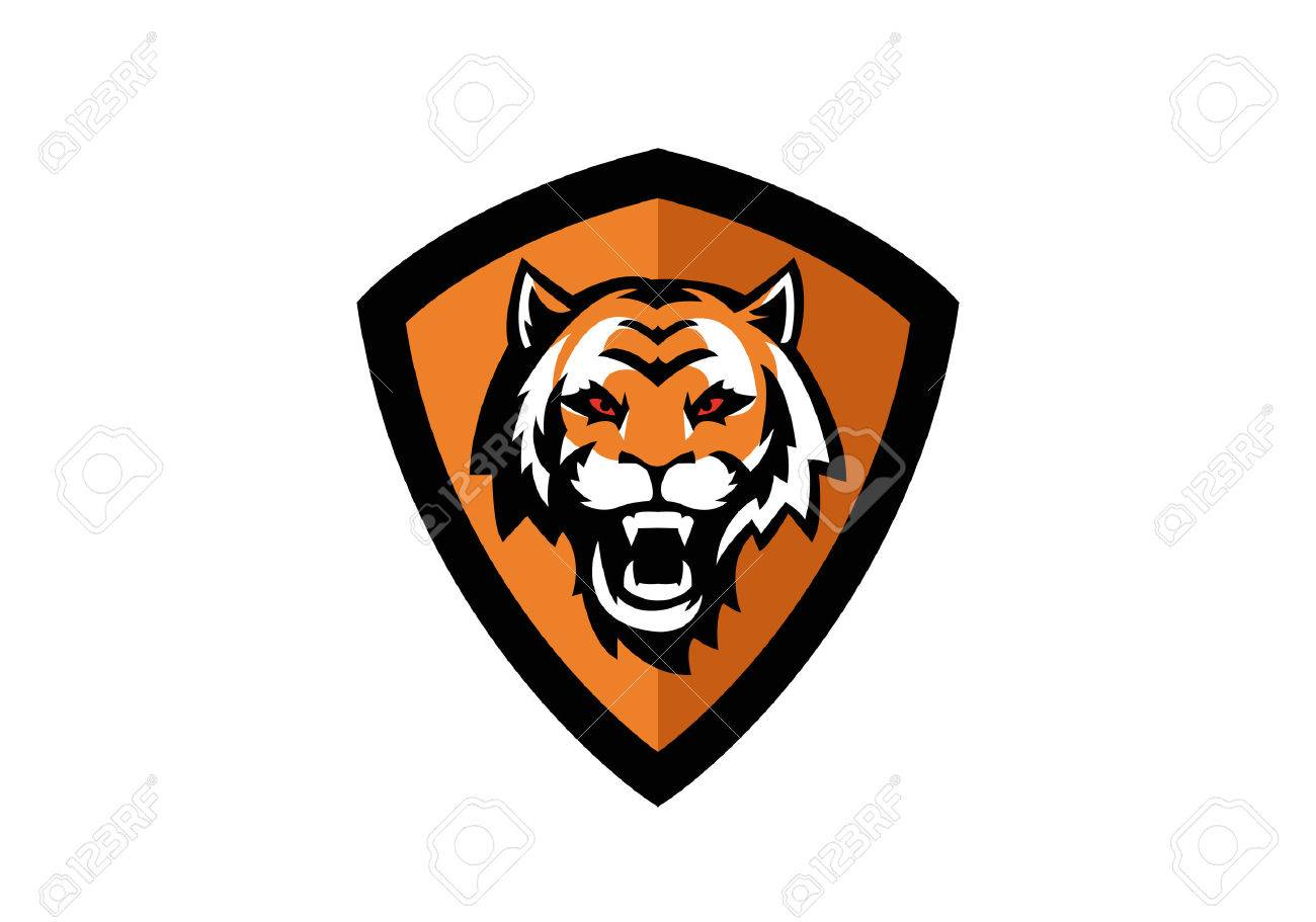 1300x911 Tiger Head Sport Badge Royalty Free Cliparts, Vectors, And Stock