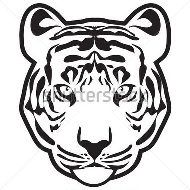 380x380 Tiger Outline Clip Art (31+)