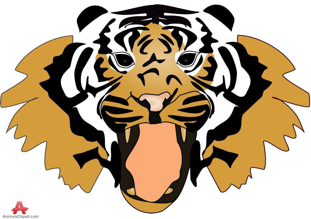 999x702 Animals Clipart of tiger Clipart with the keywords tiger