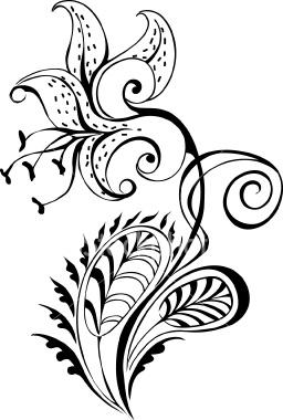 256x380 Clip Art White Tiger Lily Cliparts