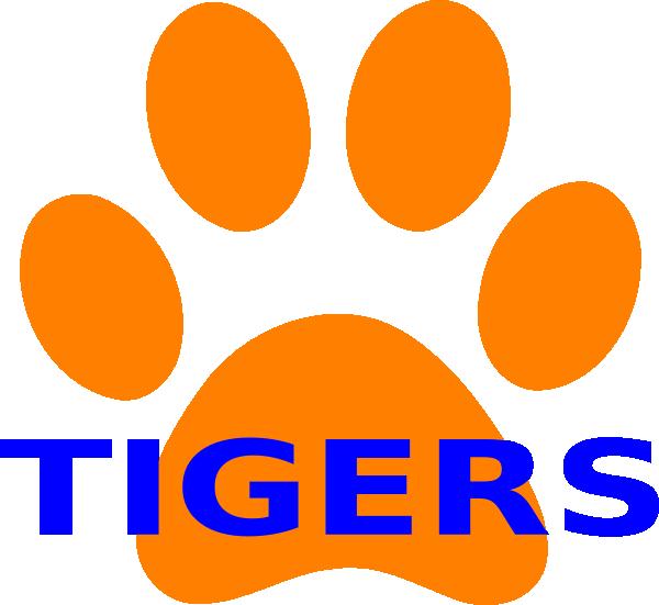 600x551 Orange Paw Print Tigers 2 Clip Art