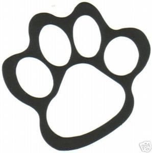298x300 Tiger Paw Print Clip Art
