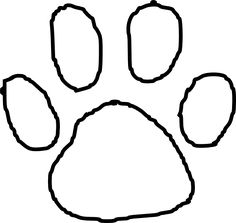 236x223 Tiger Paw Print Outline Clip Art