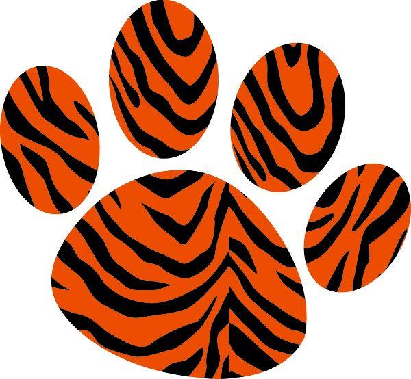 600x554 Tiger Paw Clipart Kid