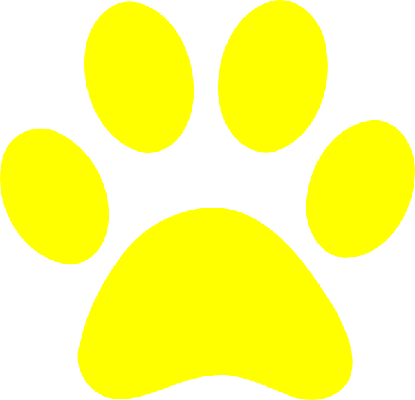 600x578 Yellow Tiger Paw Clipart