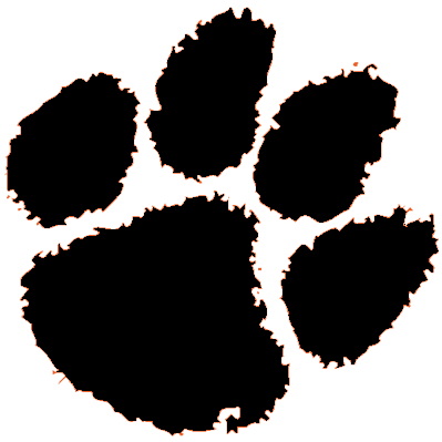 399x399 Clemson Tiger Paw Clipart