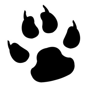 300x300 Gallery For Free Cat Paw Prints Clip Art Clipartcow
