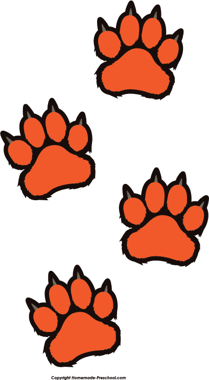 409x744 Tiger Print Clipart Tiger Paw
