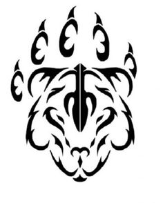 236x294 Tribal Tiger Paw Tattoo