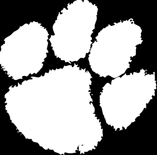 542x533 Clemson Tiger Paw Clip Art
