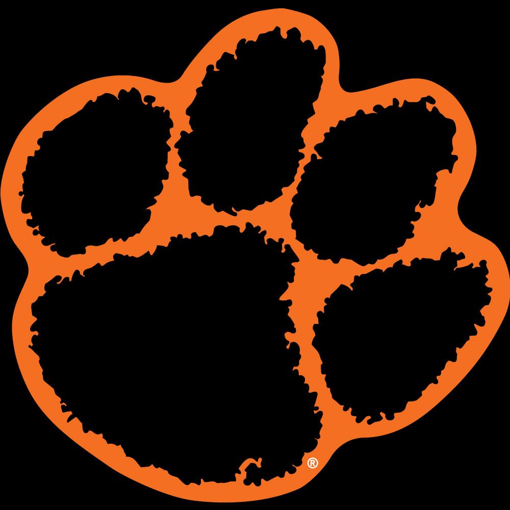 1000x1000 Orange Outline Tiger Paw Decal Mr Knickerbocker