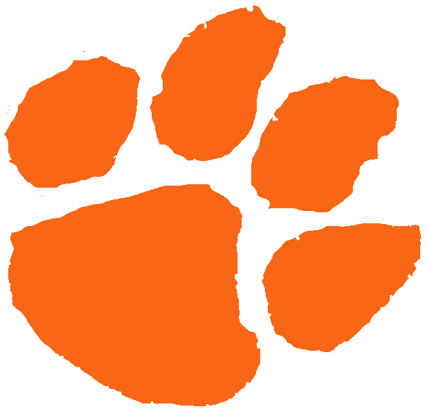 622x600 Orange Clipart Tiger Paw