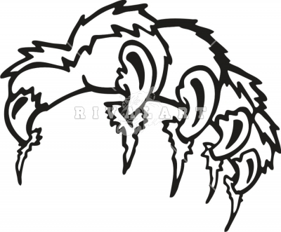 400x331 Panther Clipart Tiger Claw
