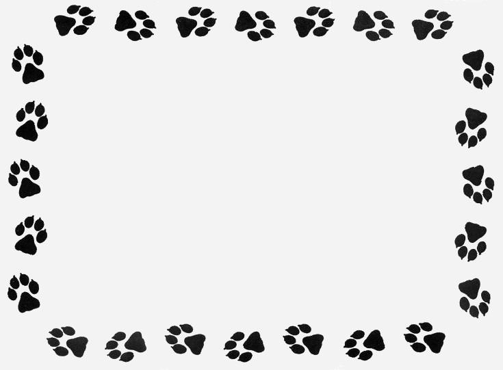 735x541 Tiger Paw Border Clip Art
