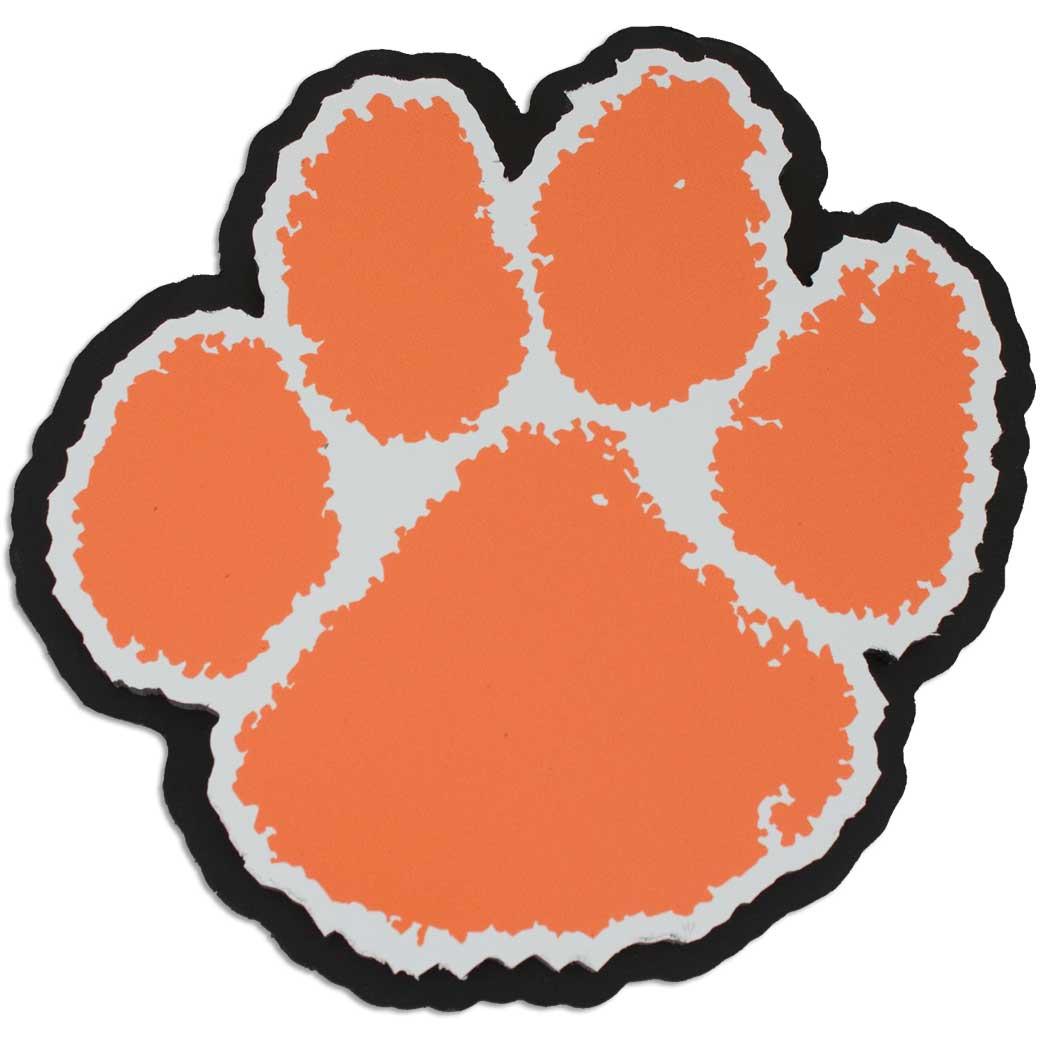 1050x1050 Clemson Tiger Paw Clipart