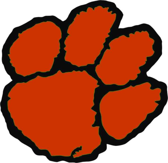 713x695 Tigres clipart tiger paw