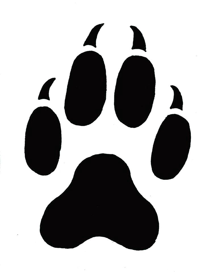 | ClipArtMag download Paw Free on Outline Tiger