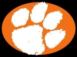 253x190 Clemson Tiger Paw Outline Free Image